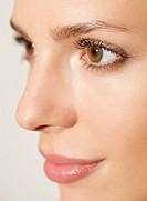 Extreme close up Portrait of a woman