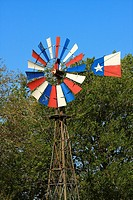 Texas Windmill - Austin County, Texas  A windmill painted to represent the Texas Flag