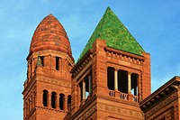 Bexar County Courthouse - San Antonio, Texas  Constructed in 1891-1896, this red sandstone romanesque-revival style courthouse is situated along the m...