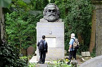 Karl Marx´ Grave, Highgate Cemetery East, London, England, UK