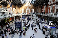 Liverpool Street Railway Station, London Borough of City, London. United Kingdom.