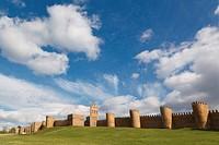 city walls, avila, avila province, spain