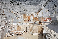 WHITE MARBLE FROM THE MICHELANGELO QUARRY, CAVE MICHELANGELO, PROPERTY OF THE BARATTINI COMPANY, TORANO VALLEY, WORLD MARBLE CAPITAL, CARRARA, CARRARA...