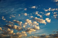 altocumulus clouds in a blue sky
