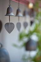 hanging bell from doi kham buddhist temple, chiang mai, thailand