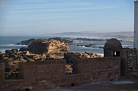 looking out from the far end of the ramparts, essaouira, morocco