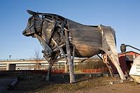 large bull statue