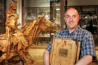 PROFESSOR CHRISTOPHE DEGUEURCE, MUSEUM CURATOR IN THE HALL OF FRAGONARD´S ECORCHES, FRAGONARD MUSEUM, NATIONAL VETERINARY SCHOOL OF ALFORT, MAISONS_AL...