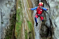 JEAN_FRANCOIS FIORINA, HEAD OF CANYON RESCUE TRAINING FOR THE ALPES MARITIME, RESCUE OF A CANYONING ACCIDENT, VALLON DU ROIS CAYON _ CASCADE DU RAY, E...