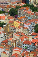 Lisbon, View from St  George´s Castle, Portugal, Europe.