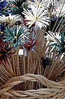 wicker basket with flowers