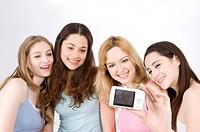 Four women taking self_portrait