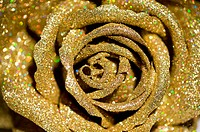 A golden plastic rose