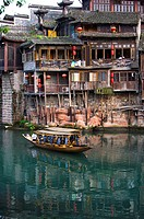 Pheonix Old City, Tuojiang River, Stilted Building, Phoenix County Province, Hunan Province, China, Asia