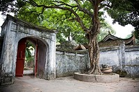 The temple of literature Van Mieu in Hanoi, Vietnam