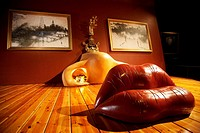 Mae West Room. Teatre-Museu Dali. Theatermuseum Dali in Figueres near Barcelona, Spain