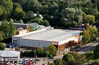 B&Q DIY super store by the Grand Union Canal at Hemel Hempstead, Hertfordshire, UK