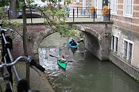 Canoe in the canal, Utrecht, Netherlands