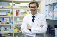 Male pharmacist, portrait