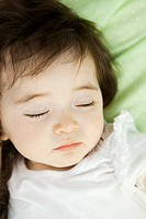 Baby girl sleeping, portrait