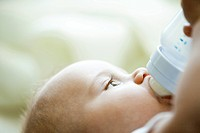 Baby drinking from bottle