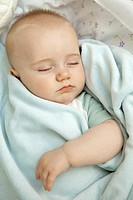Infant sleeping, portrait