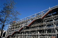 People visiting the Centre Georges Pompidou, Paris, France.
