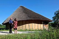 EDUCATIONAL EXPLANATION BY MONSIEUR DUBOIS OF THE HISTORY OF THE NEOLITHIC HOUSE OF AUNEAU, EURE_ET_LOIR 28, FRANCE