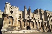 Main facade of the Palace of the Popes  Avignon  France  Built between 1342 and 1352  Work of Jean Louvres