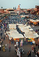 Djemaa El Fna Square, Marrakech, High Atlas, Morocco.