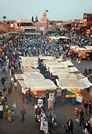 Djemaa El Fna Square, Marrakech, High Atlas, Morocco.
