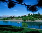 New Zealand, South Island, Lake Tekapo ...