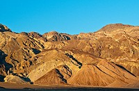 Rock formations at Artist's Drive at dusk, Death Valley National Park, California, USA