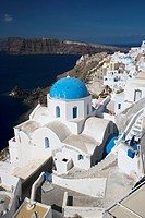 Greece, Cyclades, Santorini, Oia, church
