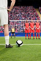 Free kick during a football match
