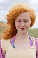 Portrait of young woman with red hair (thumbnail)