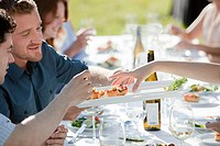 People at outdoor dinner party (thumbnail)