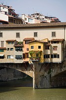 Italy, Tuscany, Ponte Vecchio over Arno River in Florence                                                                                             ...