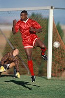African soccer player ...