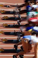 Detail of start of womens 100m race ...