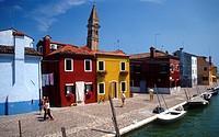 Italy, Veneto, Burano Island ...
