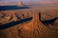 U.S.A. Arizona. Monument Valley aerial view                                                                                                           ...