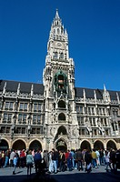 Germany, Bavaria, Munich, new City Hall and Marien Platz                                                                                              ...