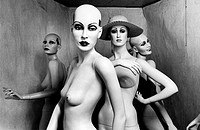 Four mannequins in a small room (thumbnail)