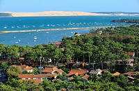 France, Gironde, Bassin d´Arcachon, The Cap Ferret and dune of Pilat