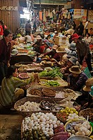 Vegetables and much more are for sale at the local covered market in Siem Reap the gateway to Angkor Wat _ Cambodia