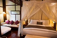 elegant French colonial style resort in Luang Prabang, Laos