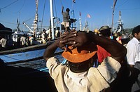 India, Goa, fishing harbour
