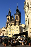 Prague, Old Town Square and Our Lady of Tyn church