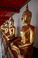 Thailand, Bangkok, Wat Pho, Buddhist Temple, Buddha Gold Statue